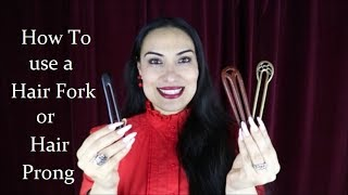 3 Easy Bun Hairṡtyles Using a Hair Prong 🖤 Hair Fork For Long Hair