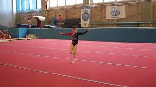 Спортивная гимнастика. Вольные.1 юношеский разряд. Милана Верзилова 7 лет. Спортивная гимнастика.