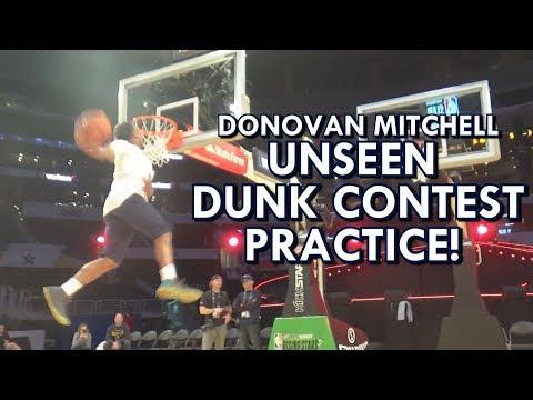Donovan Mitchell UNSEEN Dunk Contest PRACTICE - SICK DUNKS!