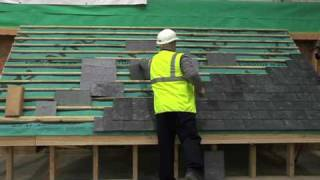 A video explaining the merits of hook fixing natural roofing slate.