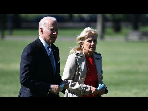 President Biden and the first lady deliver remarks to Air Force personnel and their families