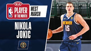 Nikola Jokic Is Named #KiaPOTM​ For March | Western Conference
