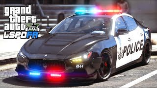 GTA 5 Mods - The BEST Looking Police SUPERCAR!! (LSPDFR Gameplay)