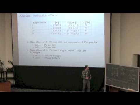 Statistics for Engineers - Class 08C - 4C3-6C3 2014