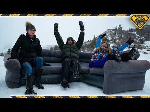 Sledding The Rocky Mountains On A Couch