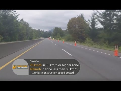 Watch and Learn How to Drive Safely in the Cone Zone