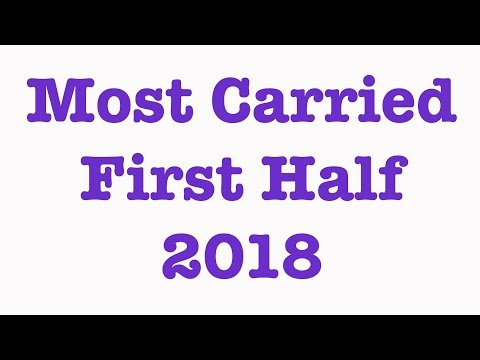 Most Carried First Half of 2018