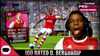 100 RATED ICONIC MOMENT D. BERGKAMP!!! 🔥
