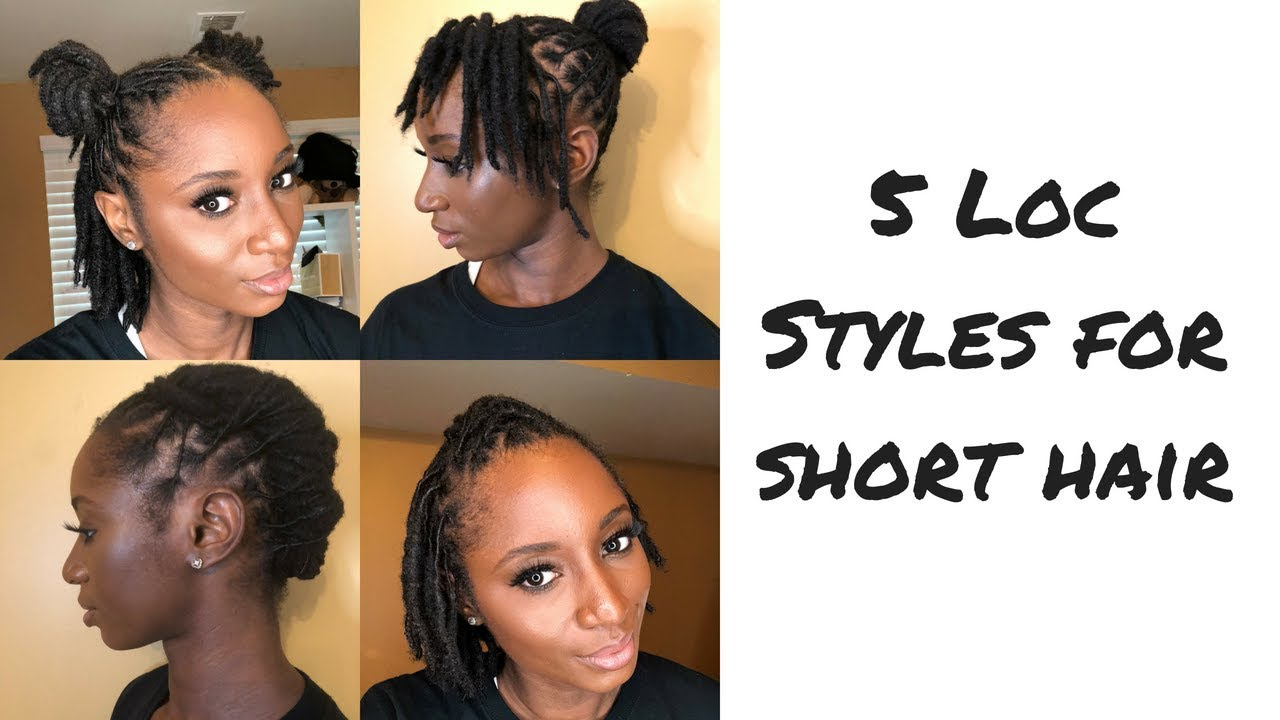 how to: five loc styles for short hair | mrsbreauxbody