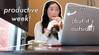 introverted youtuber goes outside everyday for a week | productive week in my life