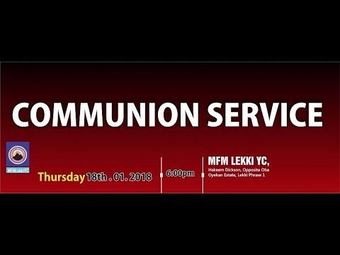 Communion Service [ 1st Edition] Jan 18th, 2018