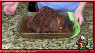 Baked Ham Recipe: Pecan Praline Crust