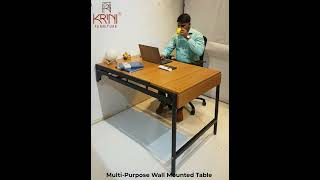 Folding Dining Table for Small Spaces | Wall Mounted Table for Small Kitchens | Space Saving Table