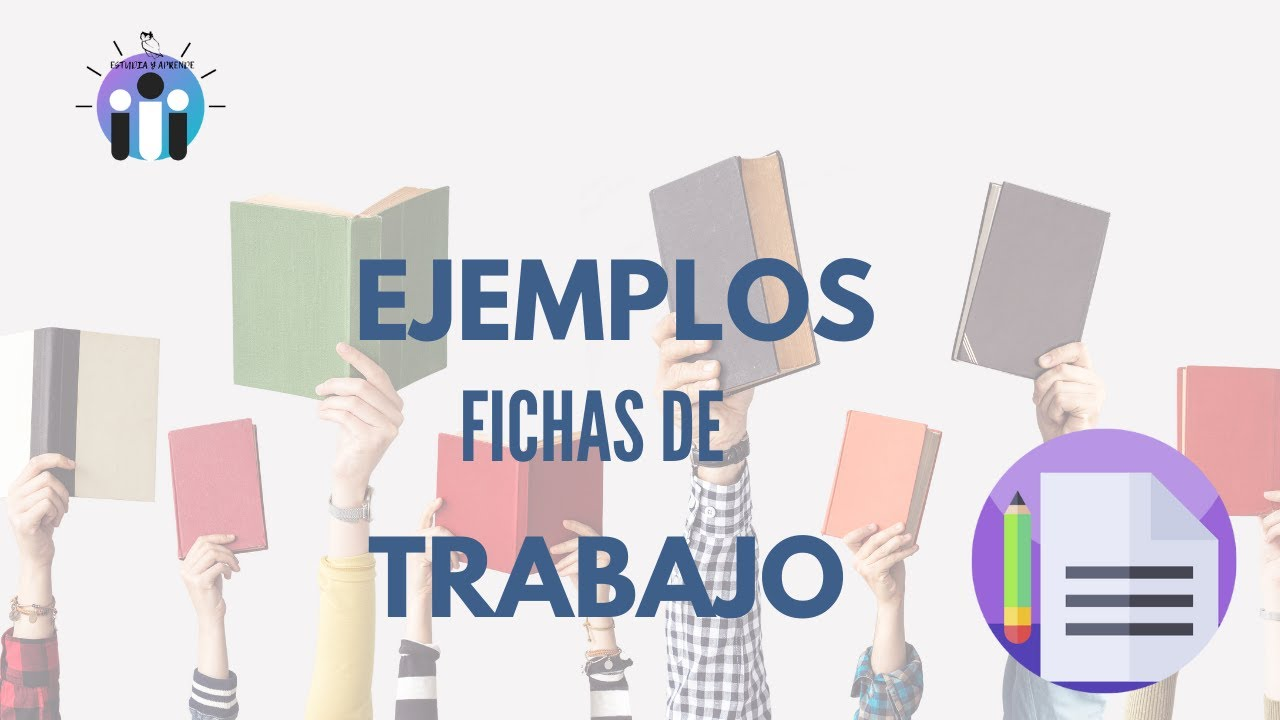 FICHAS DE TRABAJO EJEMPLOS EPUB