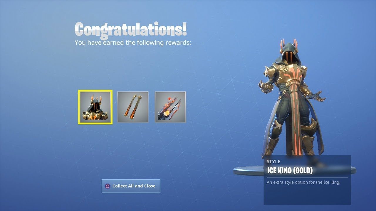 Unlocking Gold Ice King Skin With A Duo Squad Win Powder Skin