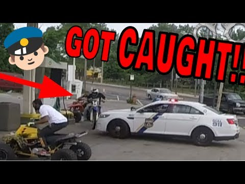 CAUGHT BY COPS GETTING GAS ON DIRT BIKE