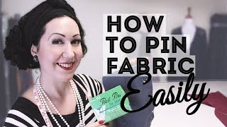 How to Pin Faḃric for Sewing? Can you sew over pins? -2 ways to pin fabric plus my method!