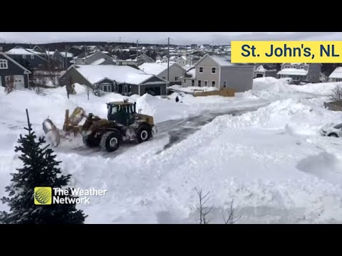 Snow Removal Timelapse: One Plow Versus A Historic Snowfall