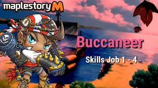 Maplestory M Buccaneer Skill 1 - 4 Job Preview