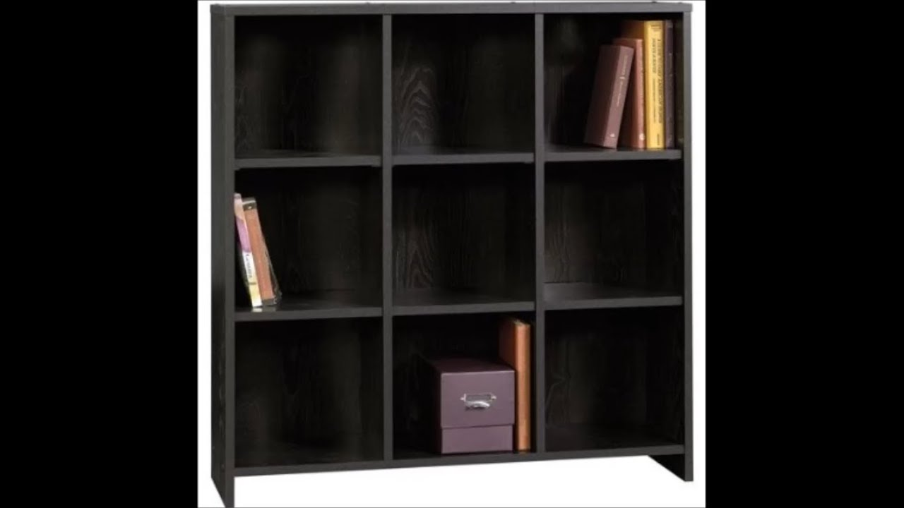 Sauder Mainstays Bookcase Black 412318 Complete Assembly