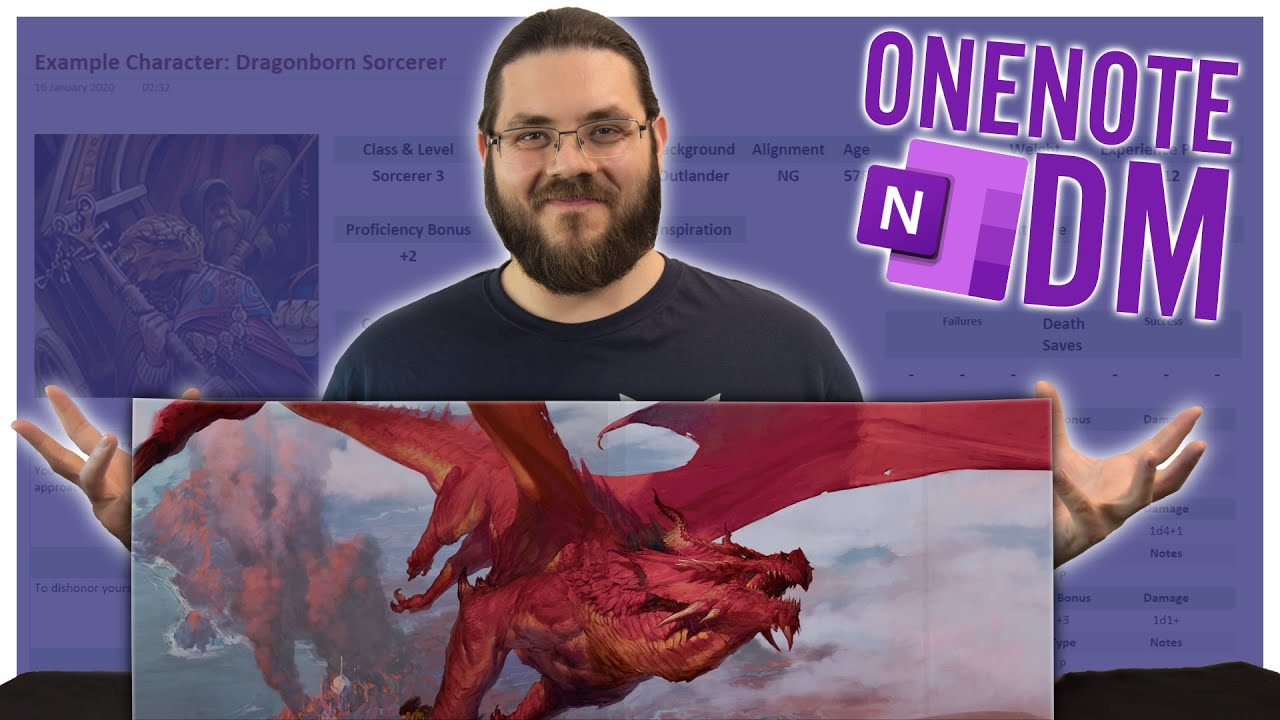 Using Microsoft OneNote to Manage D&D and RPG Campaigns - Tutorial |  OneNote DM Ep  1