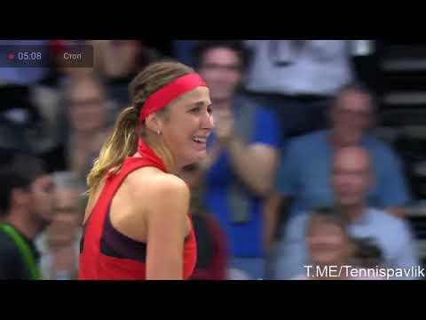 Решающий тайбрейк поединка Ястремская - Бенчич за выход в финал WTA Люксембург.
