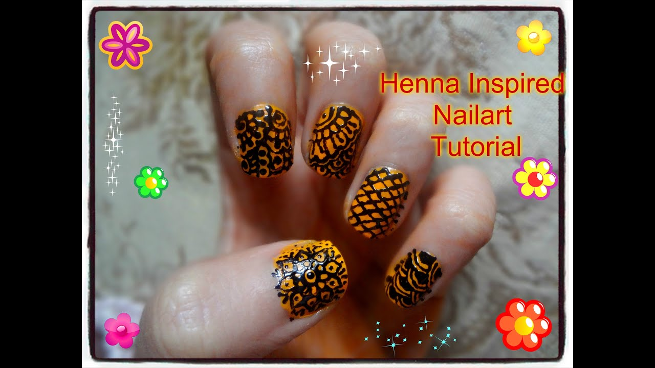 Easy Diy Best And Beautiful Henna Mehndi Inspired Nailart Tutorial