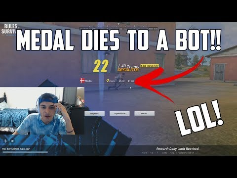 MEDAL DIES TO A BOT! - Rules of Survival: Battle Royale