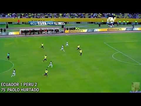 ECUADOR v. PERU - GOL DE PAOLO HURTADO