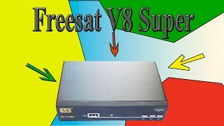 Freesat V8 Super satellite receiver. Unboxing and review of receiver's board. Обзор (v8 golden)