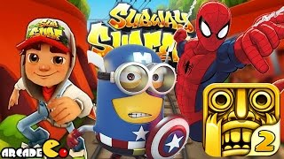 Despicable Me 2 Minion Unlimited Spiderman Temple Run 2 Subway Surfers World Tour Paris
