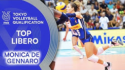 Monica De Gennaro saves every ball! | Top Libero | Volleyball Olympic Qualification 2019