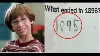 Funniest Answers Kids Gave On Tests
