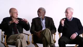 Going in Style's Morgan Freeman, Michael Caine and Alan Arkin interviewed!