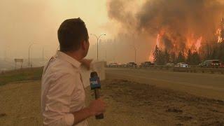 حريق ضخم في فورت ماكموراي بكندا