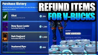 *NEW* How to Refund/Sell Skins and items for V-Bucks on Fortnite Battle Royale on PS4 Xbox one & PC
