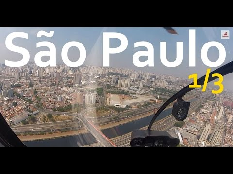São Paulo R44 Helicopter Tour 1/3 : Takeoff and Downtown
