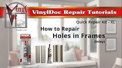 How to Repair Holes in Vinyl Window Frames (Inlay)