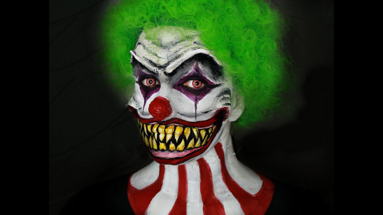 Maquillage halloween clown terrifiant youtube - Maquillage de clown facile ...