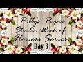 Day 3 Week of Flowers Series Easy Halloween Flowers Polly's Paper Studio Tutorial DIY  Vintage