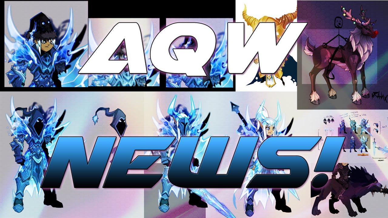 AQW News!: Dage's Frostvale Set, Bright Paragon, Legion Santa Helms