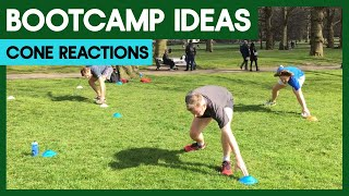 Cone Reactions - Boot Camp Workout Training Ideas For Instructors
