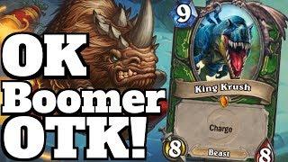 OK Boomer OTK! Flark's Boom Zooka King Krush Combo! [Hearthstone Game of the Day]
