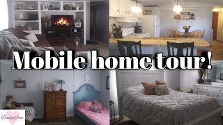 Mobile home tour / single wide Before and after renovations 2019