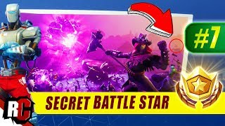 Secret Battle Star Location WEEK 7 + Hunting Party Skin | Fortnite Season 6 A.I.M Outfit