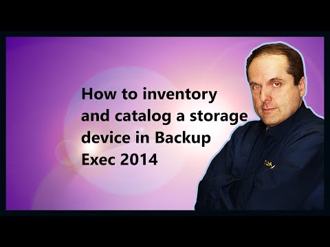 How To Inventory And Catalog A Storage Device In Backup Exec 2014