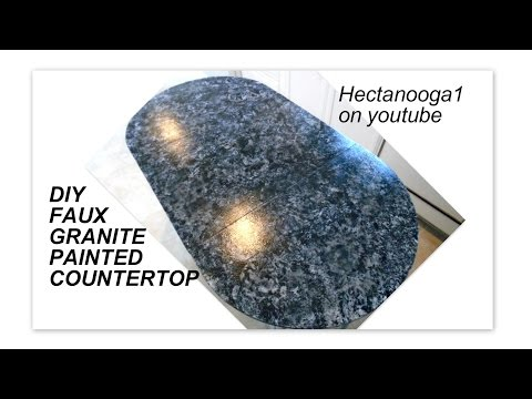 FAUX GRANITE COUNTERTOP DIY, painted kitchen counter