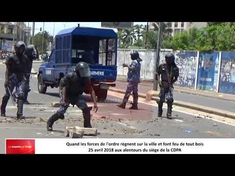 Les forces de l'ordre, de sécurité et de défense dans leur scenario de violence des populations