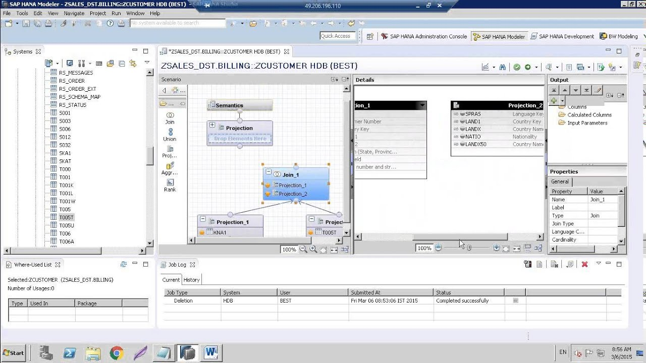 SAP HANA Training Creating Star Joins using Calculation View