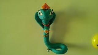 змея Хизетт из Монстер Хай. Snake Hissette of polymer clay
